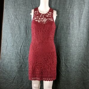 Hollister Lace & Crocheted Dress